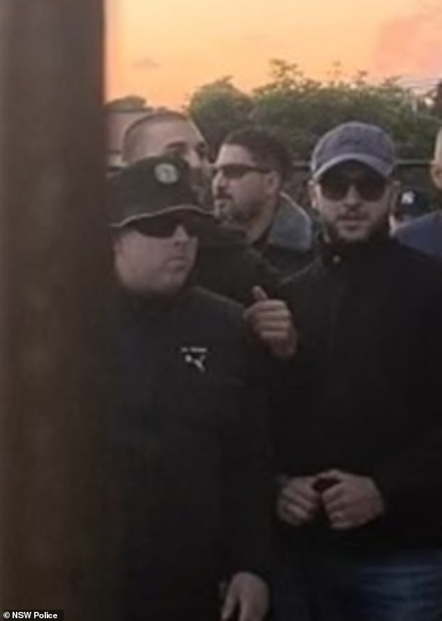The man was last seen wearing a black jumper, black shorts, black bucket hat and dark sunglasses (pictured, left)