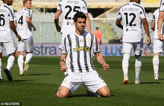 Alvaro Morata played the role as super sub as he earned Juventus a 1-1 draw at Fiorentina