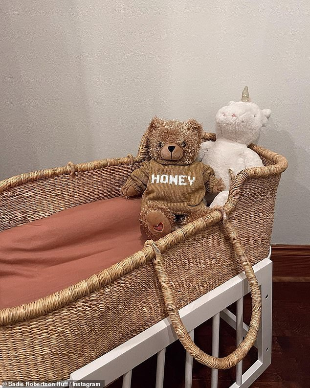 Baby girl on the way: The duo, whose daughter will be name Honey James Huff, also revealed the deep significance behind the name