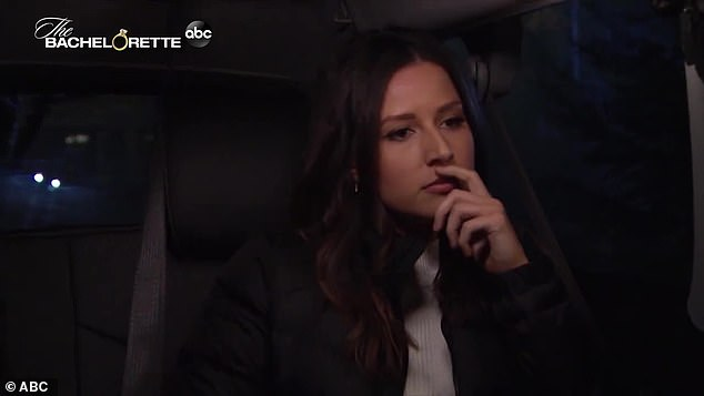 Rejected: Katie is shown being sent home in week six in a throwback clip
