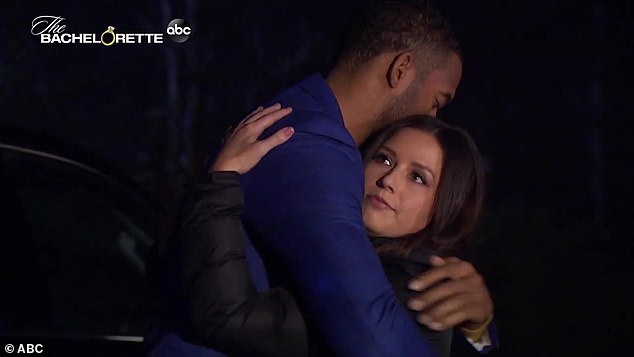 Standing up for herself: 'I don't regret being myself,' she says defiantly via narration as she embraces Bachelor Matt James. 'I know what I deserve'