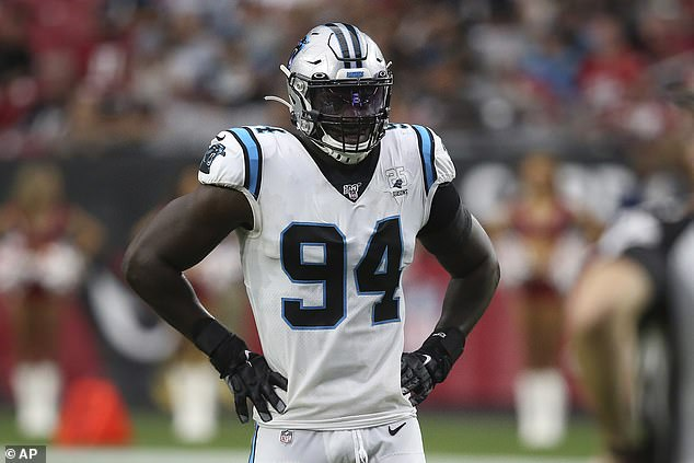 The Carolina Panthers opted not to tender the 6ft 6in defensive end as a restricted free agent, hoping to re-sign him for less money - but their gamble didn't pay off and he has departed