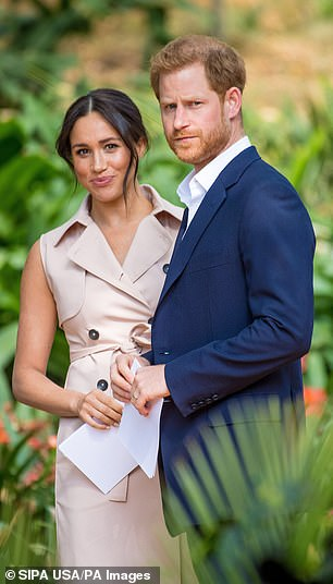 Prince Harry and Meghan Markle (pictured) face being 'ditched' from the Royal family by Prince Charles as he streamlines the Monarchy, an expert has predicted