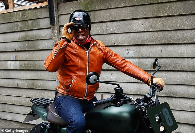 Match of the Day presenter Wright, 57, admitted speeding before a magistrates' hearing in South West London.He was caught driving at 69mph in a 40mph zone on his Triumph motorcycle in Twickenham on August 4. Pictured: Wright on a motorbike. It is not known if it is the bike he was driving on August 4