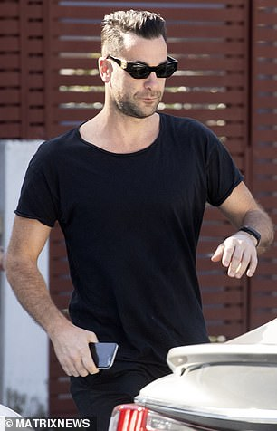 Cameron Northway (pictured), who co-owns the Rocker restaurant on Campbell Parade, is pictured leaving Edwards'Bondi home early Sunday morning