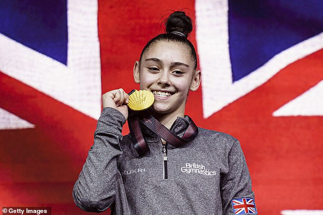 Jessica Gadirova, 16, claimed Great Britain¿s first gold at the European Championships