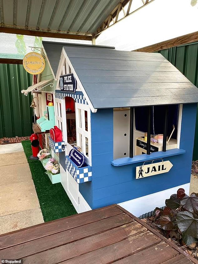 The 28-year-old mum explained that she 'took inspiration from the old main streets you see in Disneyland' (the police station pictured)