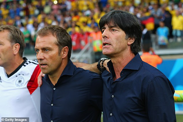 Flick (left) is expected to leave Bayern to take over from Joachim Low (right) as Germany coach
