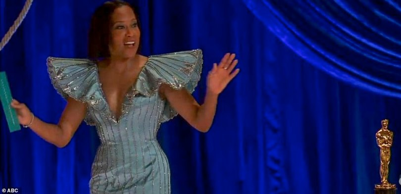 Kicking it off:Regina King opened up the show with an epic introduction which found her strolling into the iconic Union Station