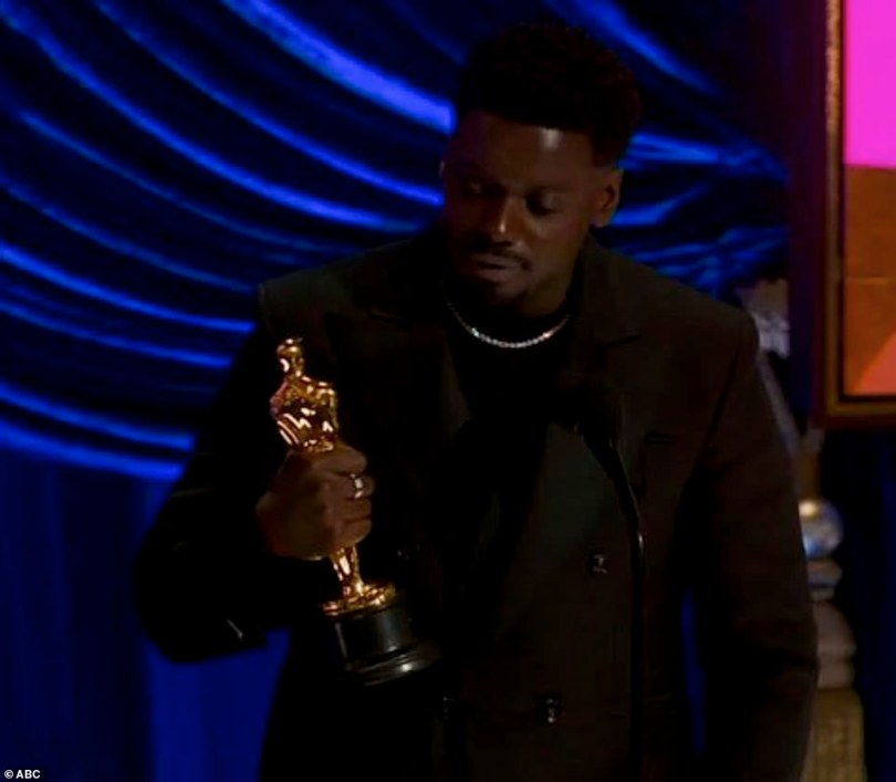 What a moment:Daniel Kaluuya was ecstatic as he earned Best Actor in a Supporting Role for his work on Judas And The Black Messiah at the 93rd Academy Awards in Los Angeles on Sunday night