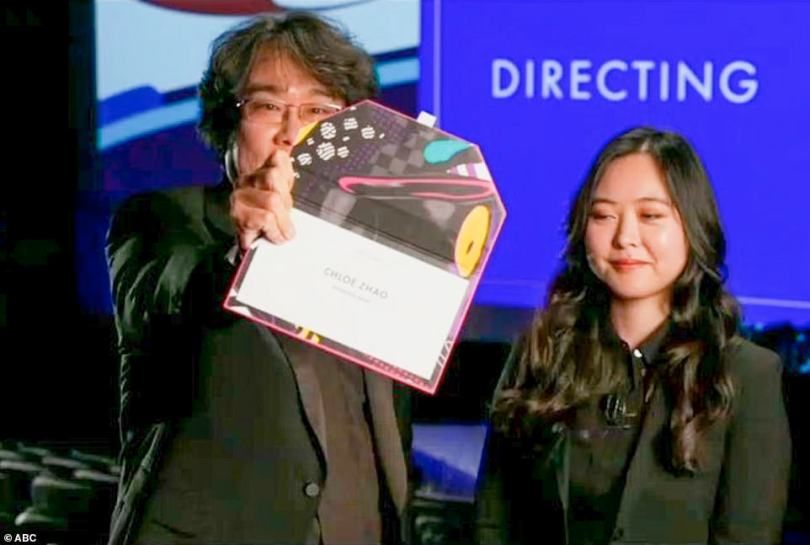 Icon: Bong Joon-ho, who won the same award for Parasite last year, presented Best Director from South Korea with the help of a translator