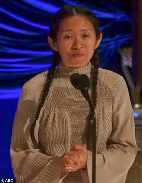 Goals: The 39-year-old Chinese filmmaker is the first woman of color to ever win the award