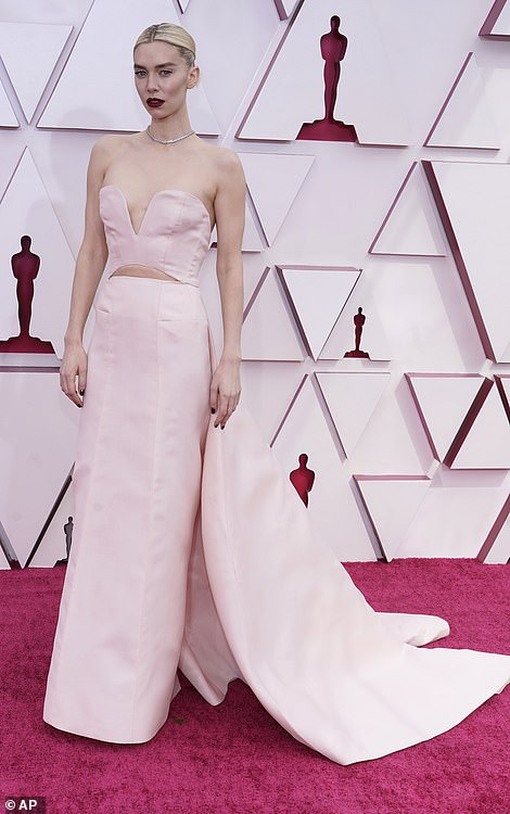 Vanessa Kirby wore a Gucci pale pink gown