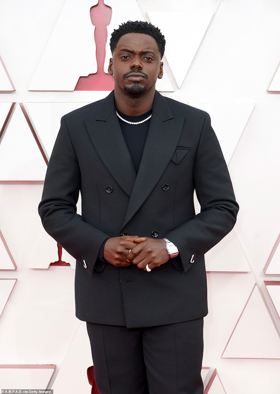 'I'm gonna avoid my phone for a bit, mate, trust me, going to avoid my phone for a bit. I think my mom's not going to be very happy. But she's gonna be cool, she's gonna be cool, she's gonna be cool,' Kaluuya said when asked if he'd spoken to his mom after the win