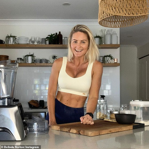 A super-fit PE teacher and fitness expert has revealed the exact work lunchbox she packs in order to stay in shape (Belinda Norton pictured)