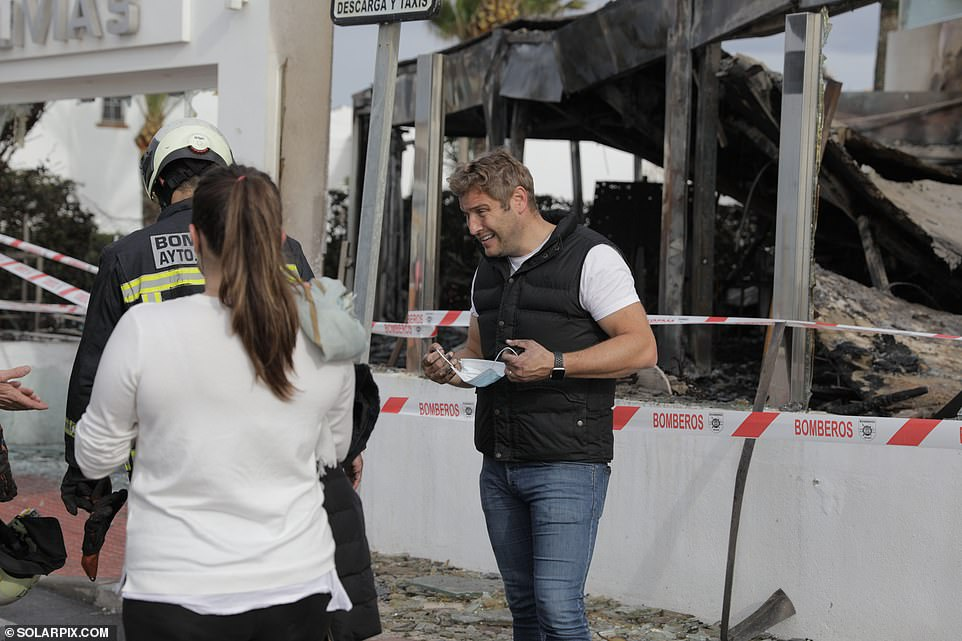 Investigation:A police investigation into the cause of the blaze, which took place at around 5.30am Monday morning, is now said to be underway at the eatery in Málaga, Spain