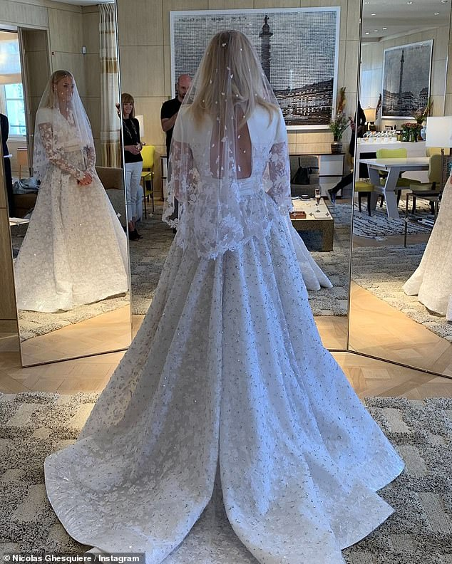 Other brides who appear to be inspired by Kate include EastEnders star Jacqueline Jossa, Kate Upton, Sophie Turner (picturd)  Karlie Kloss, and Ashley Simpson who all opted for long-sleeved lace numbers in their recent nuptials.