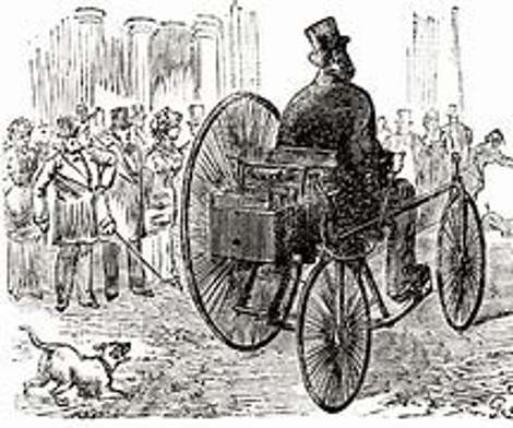 The replica pays homage to Trouvé's original, which he is believed to have driven down Rue de Valois in Paris in 1881