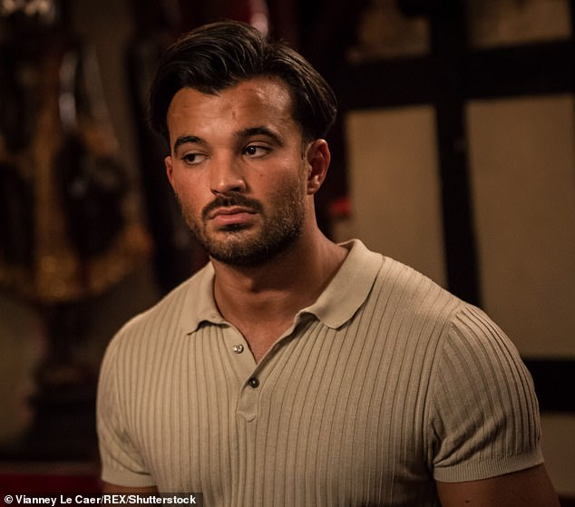 Locked up: The TOWIE star was arrested on April 16 in Emerson Park, Havering, Essex after allegedly being caught with the Class A drug and remains in custody at Pentonville Prison