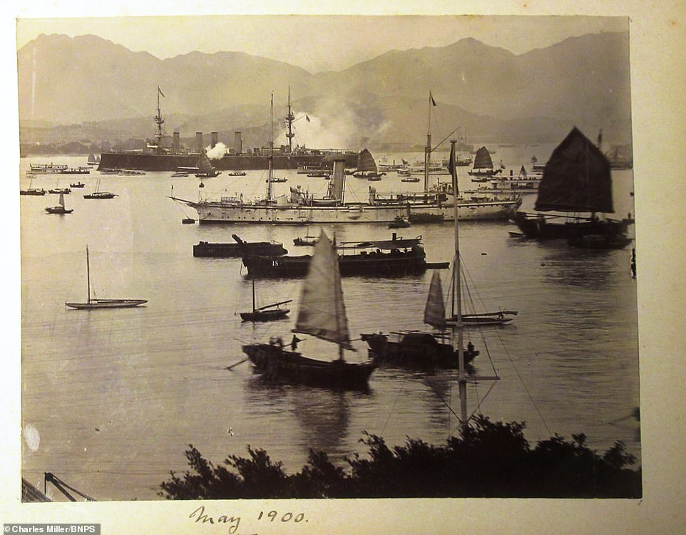 After helping out in South Africa, HMS Terrible sailed to Hong Kong, a British territory, where they helped forces content with an anti-imperialist movement known as the Boxers. Above: This image was taken in Hong Kong in May 1900