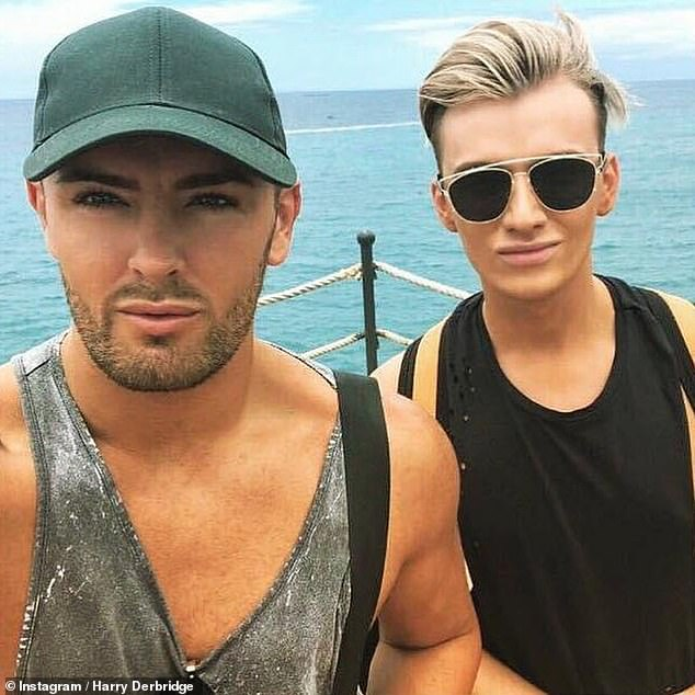 Heartbroken: Harry (right), recently broke his silence following the death of his ex Rhys (left)