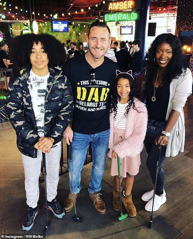 Father: Will has two children of his own and shares son Jayden, 17, and daughter Renee, 13, with his wife Michelle