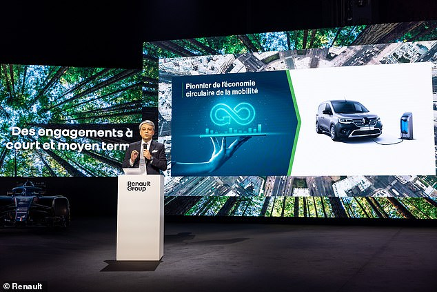 Renault CEO Luca de Meo (pictured) on Monday outlined the 'Renaulution strategy' at the annual general meeting
