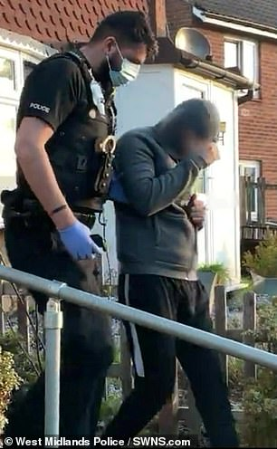 Police raided five properties and arrested a 21-year-old