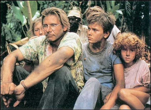 Back then:The Mosquito Coast was previously adapted into a 1986 film starring Harrison Ford and Helen Mirren, along with the late River Phoenix