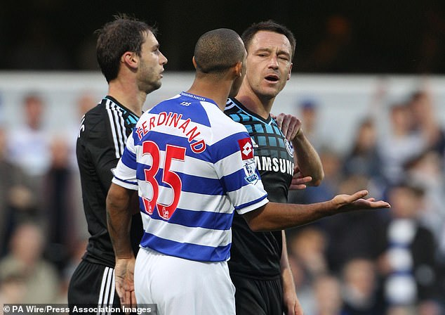 The former Chelsea captain was involved in a 2011 race row with Rio's brother Anton