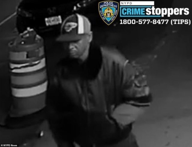 If anyone has information about Ma's attack or the person shown here, the NYPD is asking you to call its tip line (listed in the top right corner).