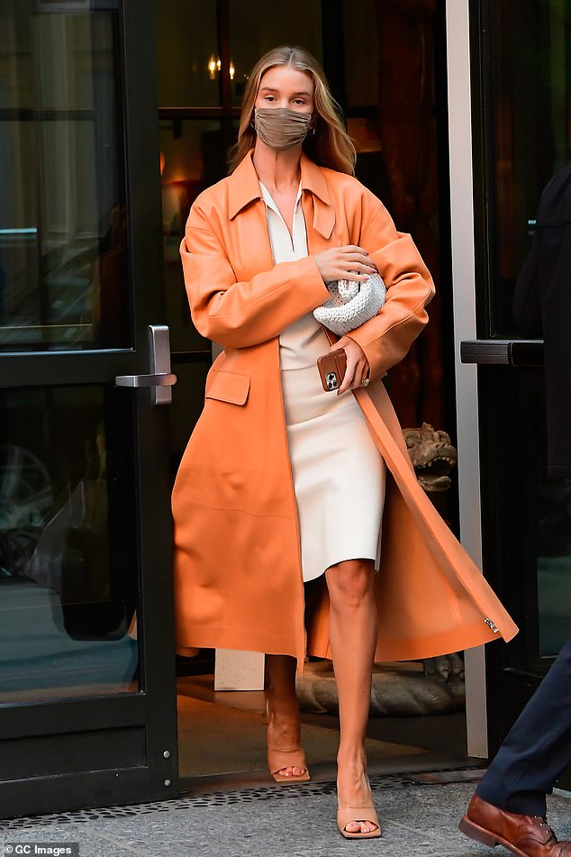 Fashion forward:Rosie has also recently dipped into footwear design through a partnership with Gia Couture Firenze; seen earlier this month in New York