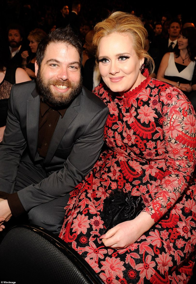 'Finalised':The party comes two months after Adele's divorce to ex-husband Simon Konecki was finalised almost two years after their split (pictured in 2013)