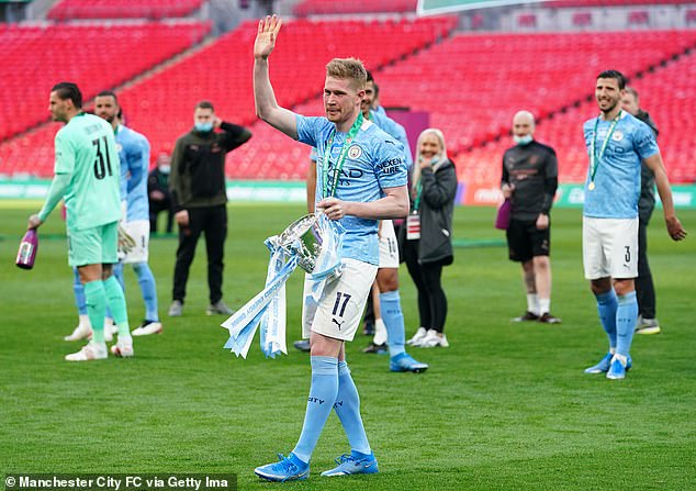 Kevin De Bruyne played a focal role as Man City lifted the Carabao Cup on Sunday evening
