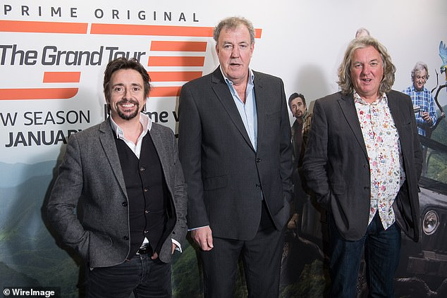 Hammond (pictured with Jeremy Clarkson and James May) was in Crickhowell filming a segment for the fourth series of The Grand Tour
