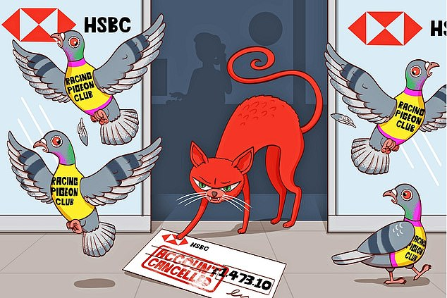Bird brained: HSBC closed the bank account of a pigeon racing club for no apparent reason then sent a cheque for the balance made out to the same account