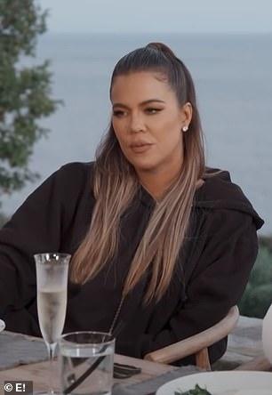 Ex factor: During an episode of KUWTK last month, Khloe said Kourtney's ex was 'negative'