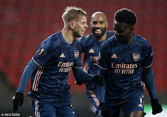 Lauren heaped praise on Arsenal youngsters EmilE Smith Rowe and Bukayo Saka