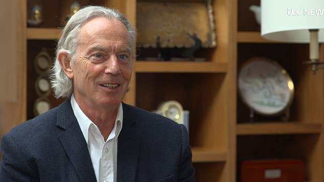 Tony Blair caused a stir on social media after unveiling his long lockdown locks in an interview with ITV