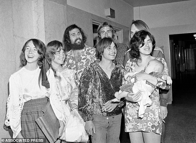 Blinded: Many of Manson's followers remained devoted to him while he was on trial. Lynette 'Squeaky' Fromme, Sandra Good, Mark Ross, Paul Watkins, and Catherine 'Gypsy' Share are pictured in 1970 (left to right)