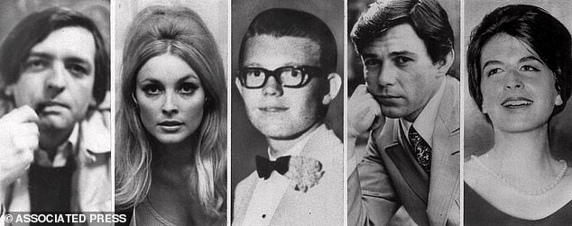 Tragedy: They killed a total of five people: Voytek Frykowski, Tate, Stephen Paren, Jay Sebring, and Abigail Folger (left to right)