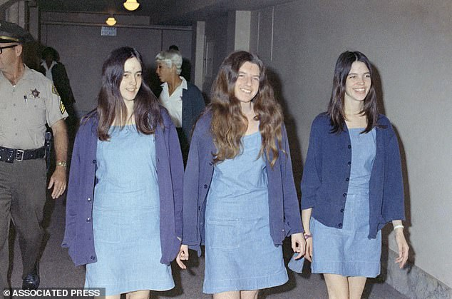 Murders: Wildebush was friends with Susan Atkins, Patricia Krenwinkel, and Leslie Van Houten (pictured left to right), who were all convicted and sentenced to life in prison