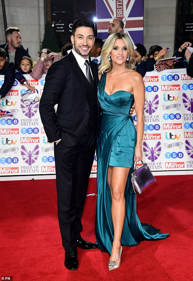 Split: Giovanni and Ashley (pictured in 2019) split in January last year after meeting on the 2018 series of Strictly