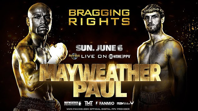 Floyd Mayweather's crossover fight with YouTuber Logan Paul will take place on Sunday June 6