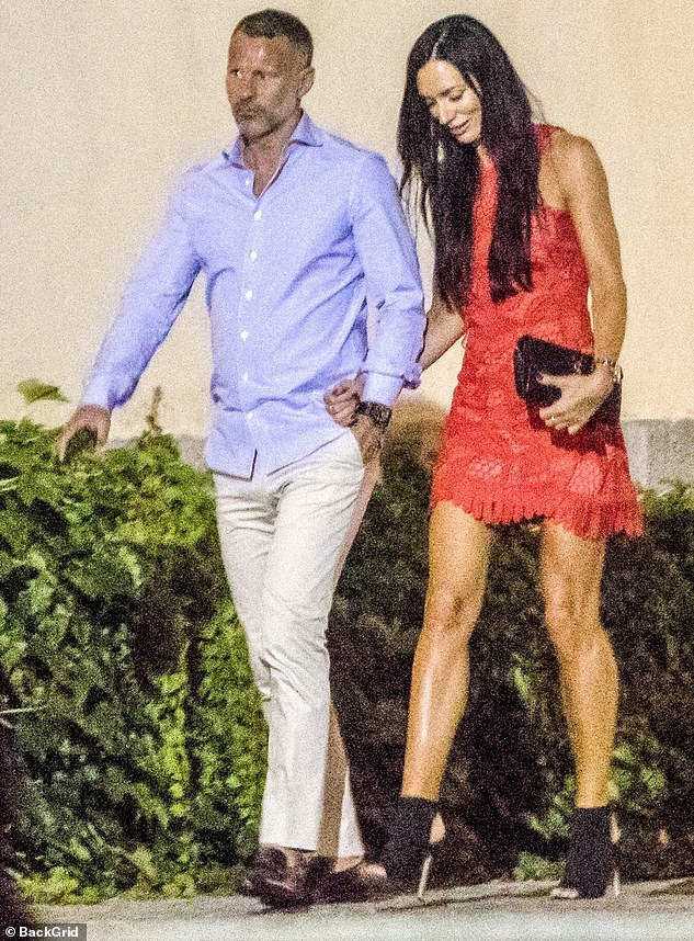 Giggs and Kate Greville pictured together on holiday in Ravello, Italy, back in 2018