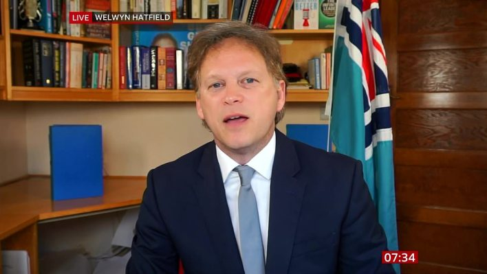 Transport Secretary Grant Shapps tried to gloss over the No11 flat row in a round of interviews this morning, claiming it is a 'story of the past' and declarations will be made