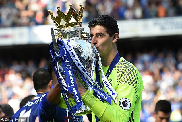 Courtois played for Chelsea for seven years but then forced through a move to Real Madrid