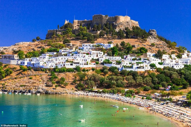 GREECE: The islands including Rhodes (pictured) are ready to welcome tourists in mid-May and plan random testing at airports to deal with tourists