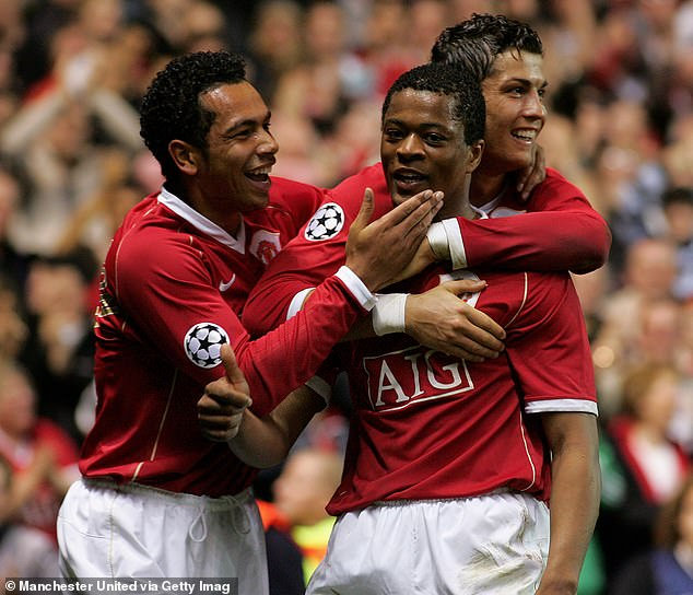 Even Patrice Evra - playing out of position - got in on the act as he wrapped up their seventh