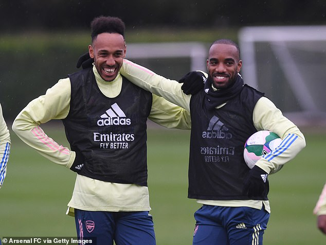 Both Pierre-Emerick Aubameyang and Alexandre Lacazette are in contention to feature